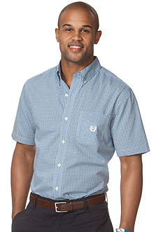 Chaps Wilmington Short-Sleeved Checked Shirt