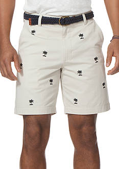 Chaps Palm Embroidered Short