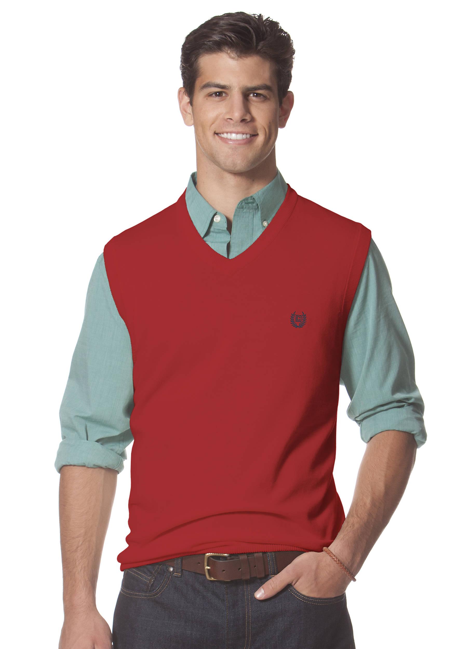 Chaps V-Neck Sweater Vest   belk
