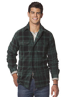 Chaps Plaid Fleece Jacket