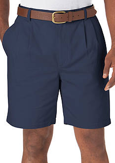 Chaps Pleated Twill Shorts