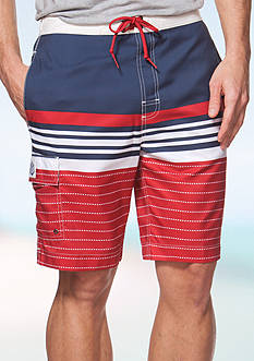 Chaps Striped Board Shorts
