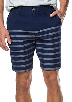 Chaps Striped Oxford Shorts