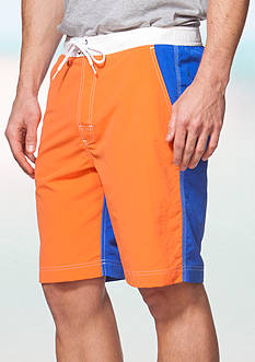 Chaps Color-Blocked Board Shorts