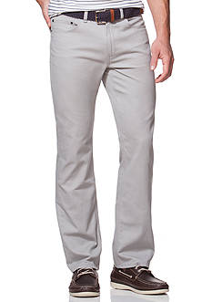 Chaps Straight-Fit 5-Pocket Twill Pants