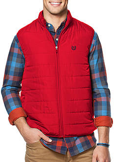 Chaps Quilted Mock Neck Vest
