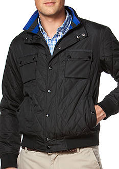 Chaps Quilted Mock Neck Jacket