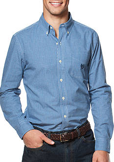 Chaps Mini-Checked Poplin Shirt