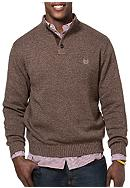 Chaps Combed Cotton Mock Neck Sweater