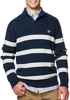 Chaps Striped Mock Neck Sweater