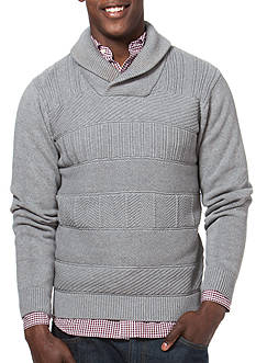 Chaps Patterned Shawl Pullover