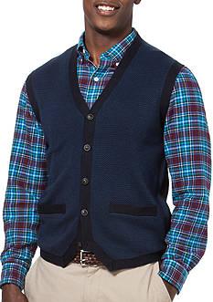 Chaps Herringbone Sweater Vest