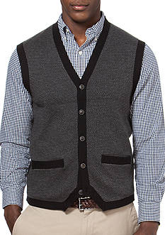 Chaps Herringbone Sweater Vest