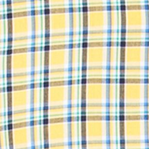 Yellow Mens Long Sleeve Woven Shirts: Southport Yellow Chaps Plaid Poplin Shirt