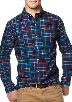 Chaps Windowpane Oxford Shirt