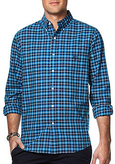 Chaps Checked Cotton Oxford Sport Shirt
