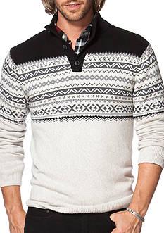 Chaps Fair Isle Mock Neck Sweater