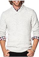 Chaps Cotton-Blend Shawl Pullover