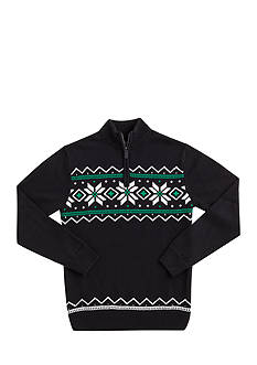 Chaps Patterned Half-Zip Sweater