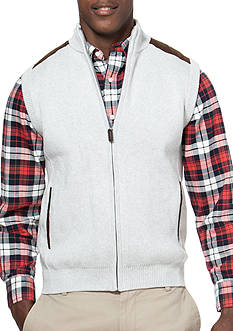 Chaps Full-Zip Sweater Vest