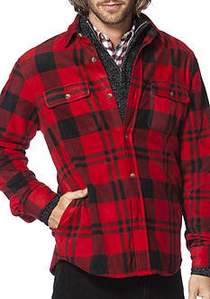Chaps Buffalo Plaid Fleece Shirt Jacket