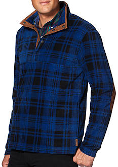 Chaps Plaid Fleece Pullover