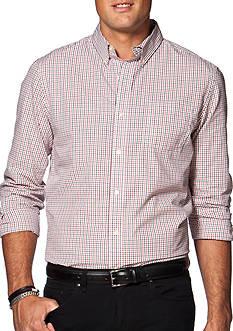 Chaps Two-Toned Tattersall Poplin Shirt