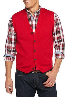 Chaps Combed Cotton Sweater Vest
