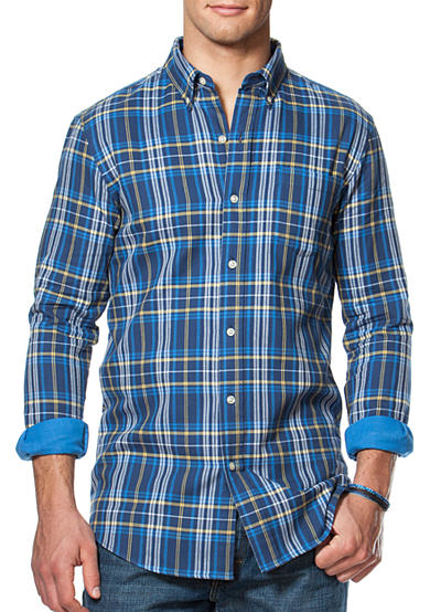 Chaps Double-Faced Plaid Shirt