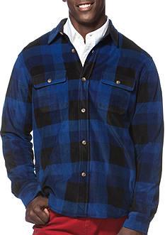 Chaps Checked Fleece Shirt Jacket
