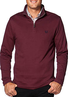 Chaps Herringbone Mock Neck Pullover