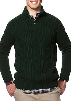 Chaps Cable-Knit Mock Neck Sweater