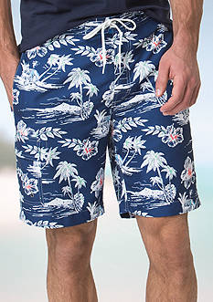 Chaps Tropical-Print Board Shorts