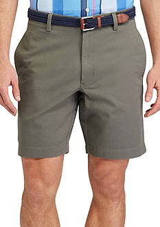 Chaps Flat-Front Cotton Twill Shorts