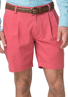 Chaps Pleated-Front Twill Shorts