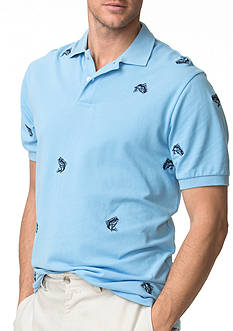 Chaps Embroidered Mesh Polo Shirt