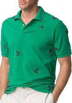 Chaps Embroidered Mesh Polo Shirt