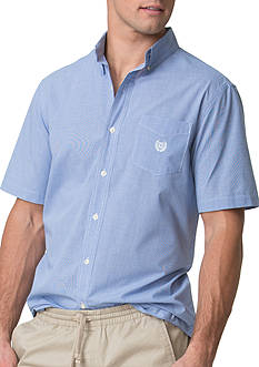 Chaps Short-Sleeve Houndstooth Poplin Shirt
