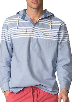 Chaps Striped Oxford Hoodie