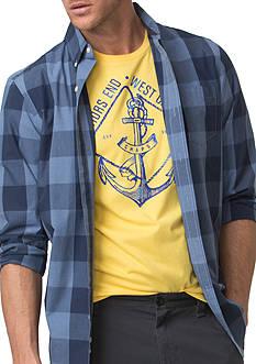 Chaps Multi-Patterned Cotton Shirt