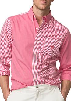Chaps Patchwork Poplin Shirt