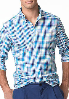 Chaps Checked Stretch-Poplin Shirt