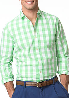 Chaps Buffalo Check Stretch-Poplin Shirt