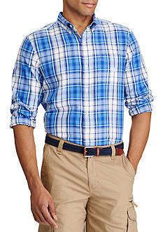 Chaps Long Sleeve Twill Plaid Shirt