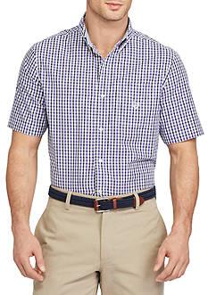 Chaps Short-Sleeve Gingham Poplin Shirt