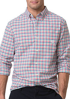 Chaps Checked Stretch-Oxford Shirt