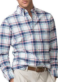 Chaps Plaid Stretch-Oxford Shirt
