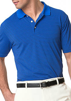 Chaps Striped Stretch Jersey Polo Shirt