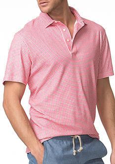 Chaps Gingham Cotton Polo Shirt