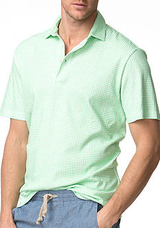 Chaps Gingham Cotton Polo Shirt
